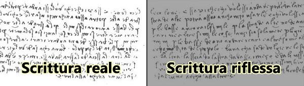 scrittura speculare