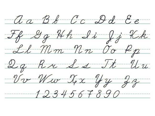 significato grafologico delle lettere alfabeto